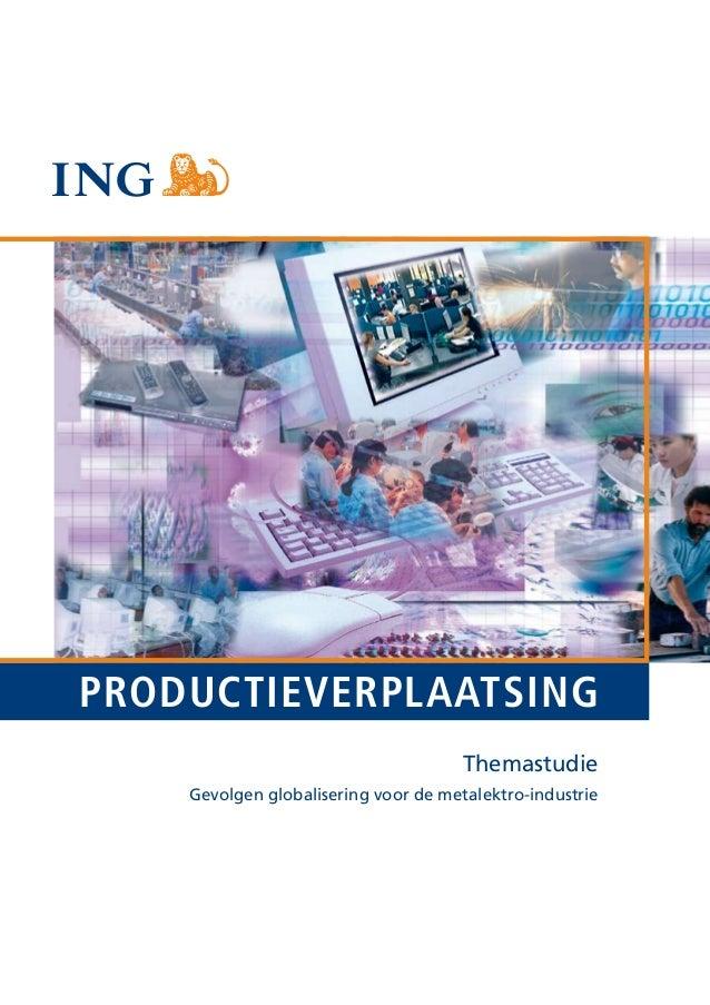 @#PRODUCTIEVERPLAATSING                                      Themastudie    Gevolgen globalisering voor de metalektro-indu...