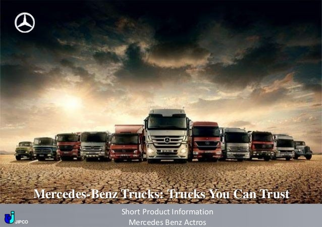 Mercedesbenz Trucks You Can Trust Short Product Informationjipco: Actros GM Fuse Box At Eklablog.co