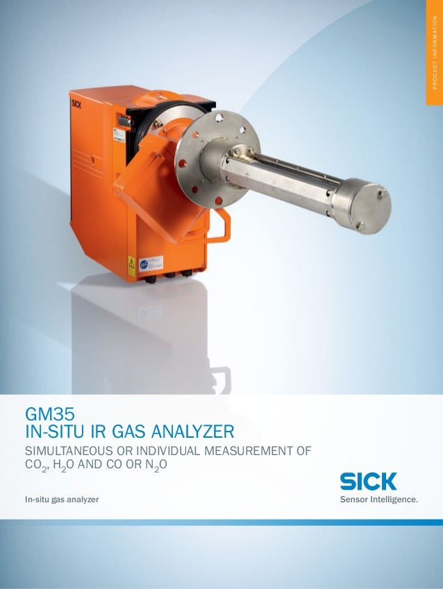 PRODUCTINFORMATION GM35 IN-SITU IR GAS ANALYZER SIMULTANEOUS OR INDIVIDUAL MEASUREMENT OF CO2 , H2 O AND CO OR N2 O In-sit...
