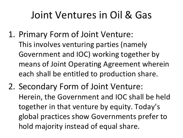 Production agreements oil service contracts joint ventures alliances 23 joint ventures in oil gas platinumwayz