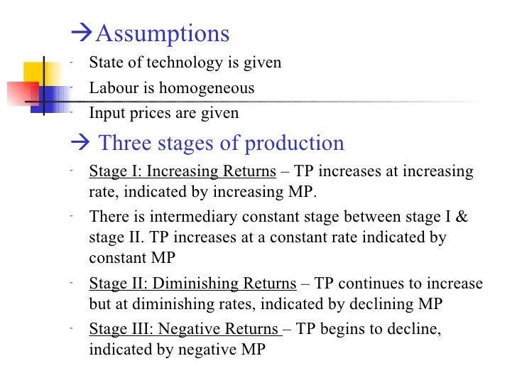 <ul><li> Assumptions   </li></ul><ul><li>State of technology is given </li></ul><ul><li>Labour is homogeneous </li></ul><...