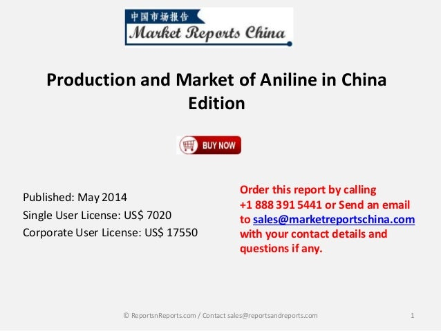 Chinese Edition Aniline Production and Market