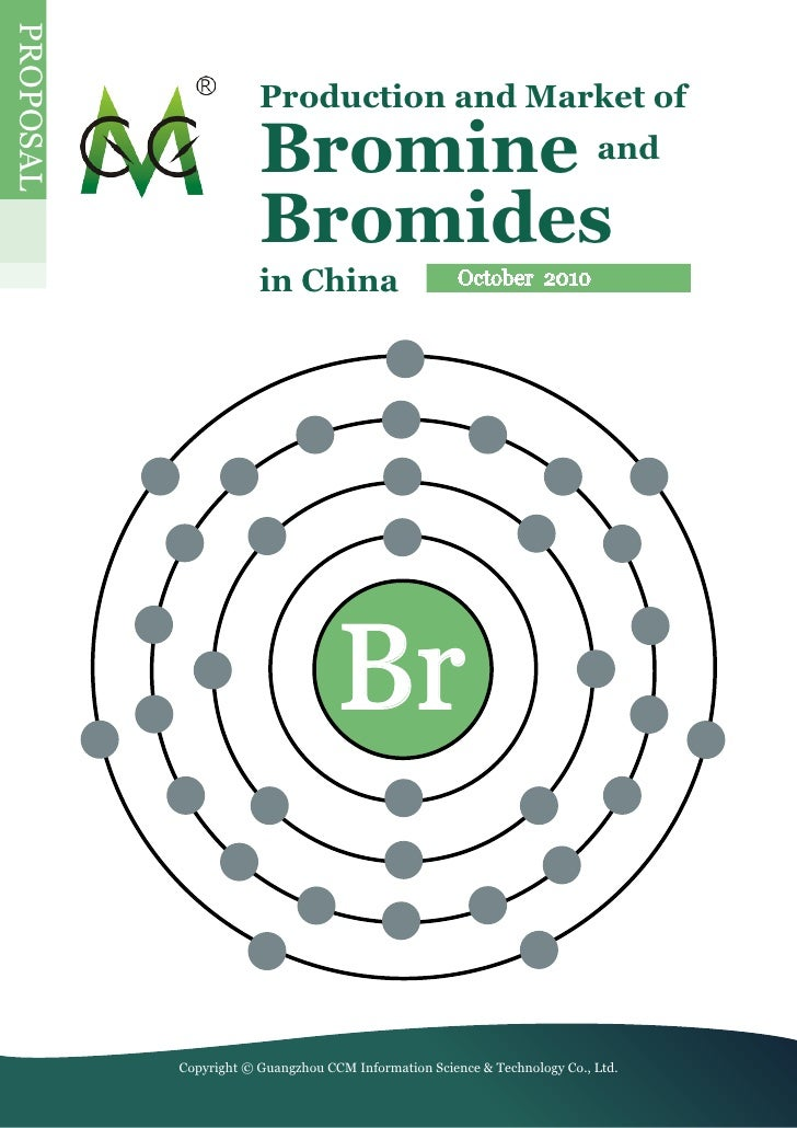 PrOPOSaL                         Production and Market of                         Bromine and                        Bromi...
