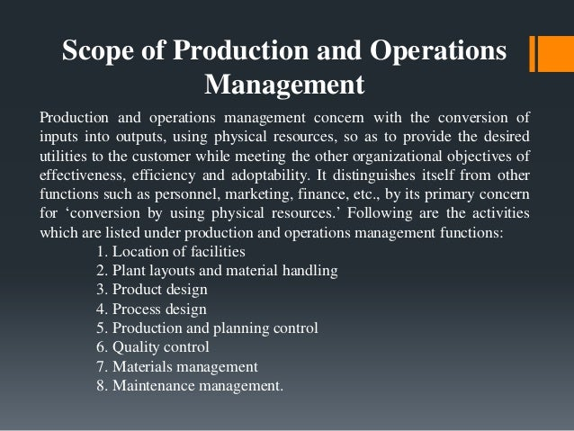 journal of operation management essay Of inventory management are critical for efficient operation, profitability and survival especially in a highly competitive environment (kros, falasca & nadler, 2006) inventory control is the science- based art of controlling the amount of stock held in various.