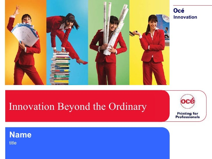Innovation Beyond the Ordinary Name title
