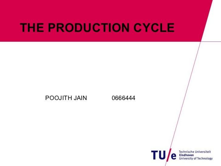 THE PRODUCTION CYCLE POOJITH JAIN 0666444