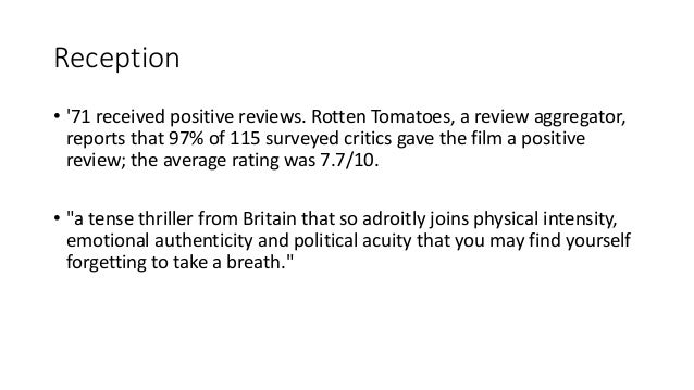 '71 | Indie Film Case Study