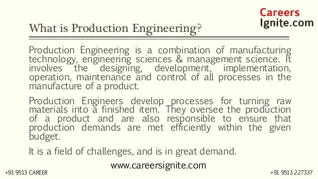Production Engineering Courses, Colleges, Eligibility Slide 2