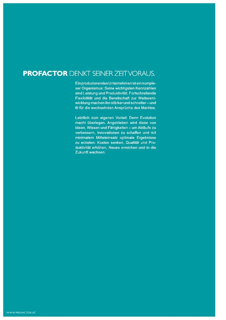 PROFACTOR Gruppe | PRODUCTION Slide 2