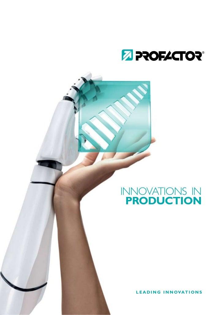 INNOVATIONS IN  PRODUCTION       L E A D I N G I N N O VAT I O N S