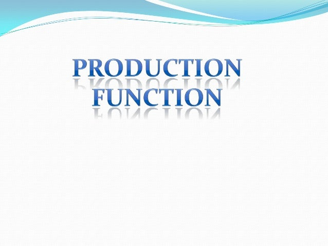 What is Production Function? The basic relationship between the factors of production and the output is reffered to as a P...