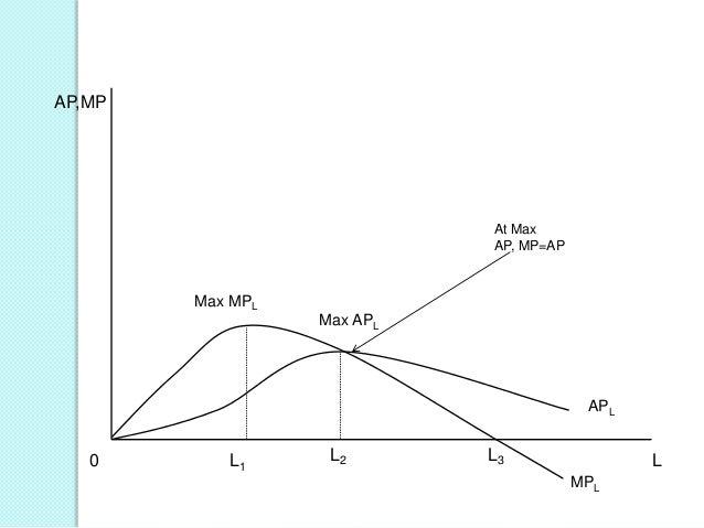 AP,MP  At Max AP, MP=AP  Max MPL Max APL  APL  0  L1  L2  L3  L MPL