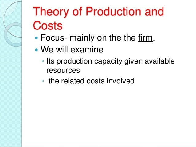 Production function  Slide 3
