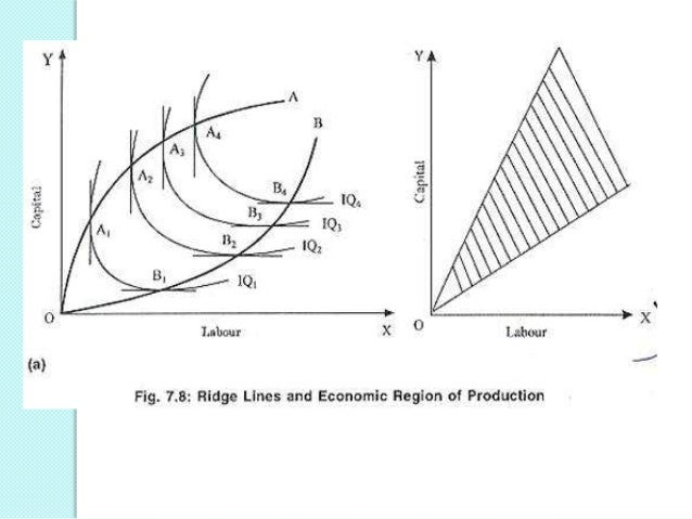 No profit-maximizing firm will operate at a point outside the ridge lines, since it can produce the same output with less ...