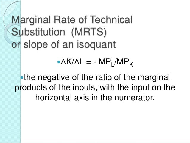 Other types of Isoquants Linear Isoquants  L- shaped Isoquants  Kinked Isoquants 