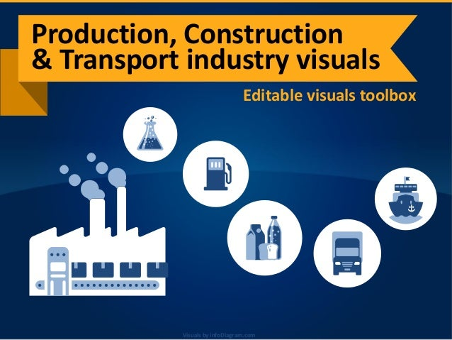 Visuals by infoDiagram.comVisuals by infoDiagram.com Editable visuals toolbox Production, Construction & Transport industr...