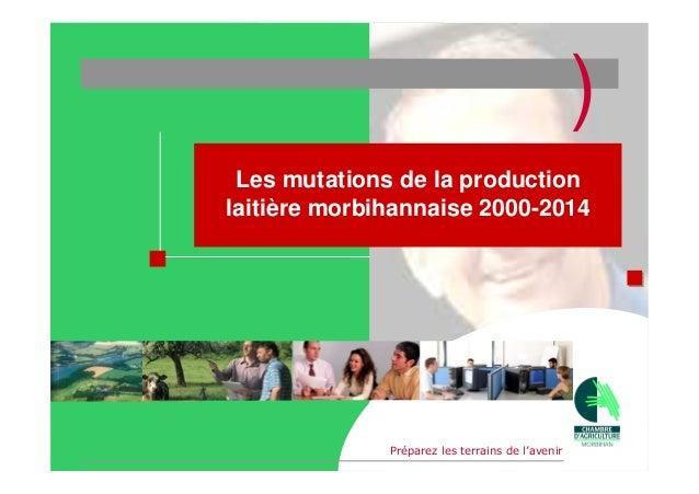 )                       Les mutations de la production                      laitière morbihannaise 2000-2014              ...