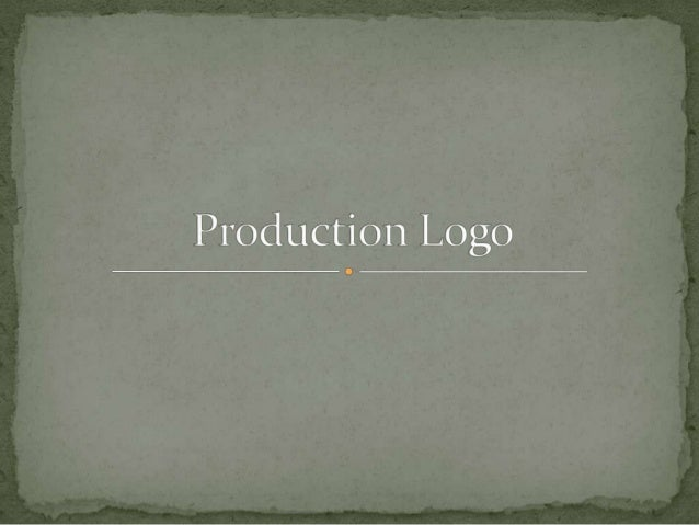 What is a production logo?A production logo is usedby movie studios to brandwhat they produce.
