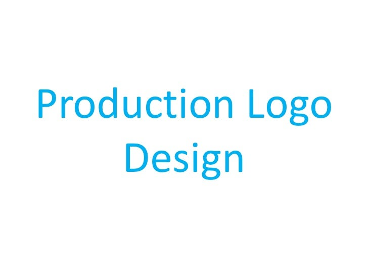 Production Logo    Design