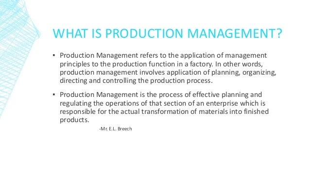 objectives and functions of operations management