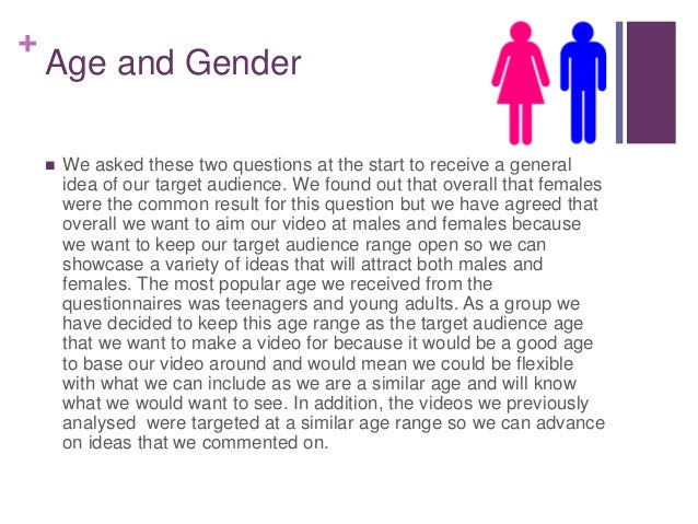 + Age and Gender  We asked these two questions at the start to receive a general idea of our target audience. We found ou...