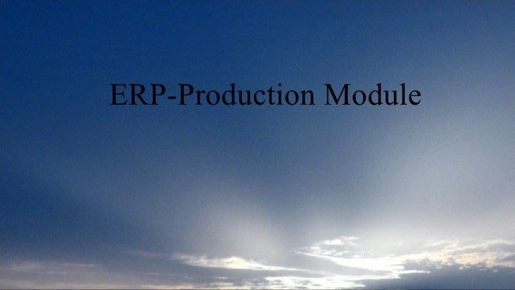 ERP-Production Module