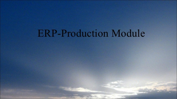 Production module-ERP