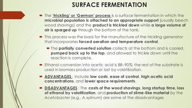 Production Of Lactic Acid And Acidic Acid