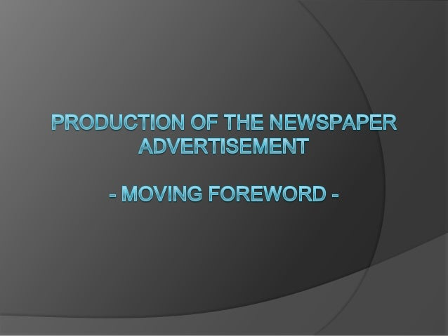 Once we had finished the rough drawing for the newspaper advertisement and got it approved by a member of staff, we then s...