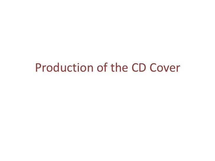 Production of the CD Cover
