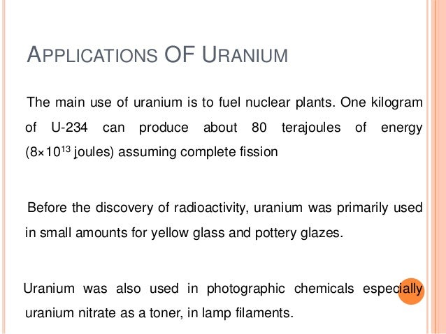 Uses of uranium dating