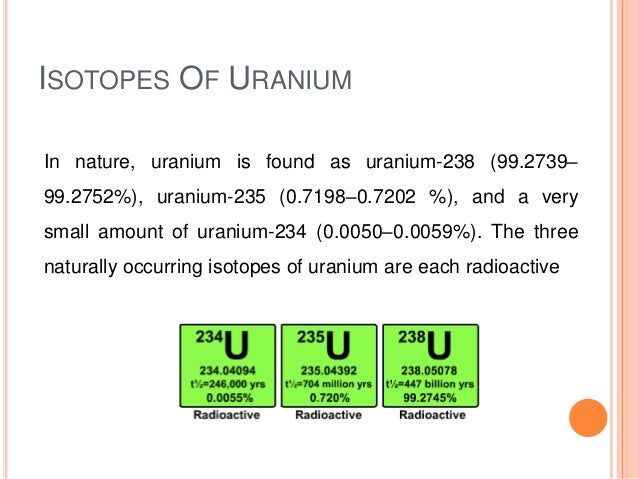 Production Enrichment Of Uranium