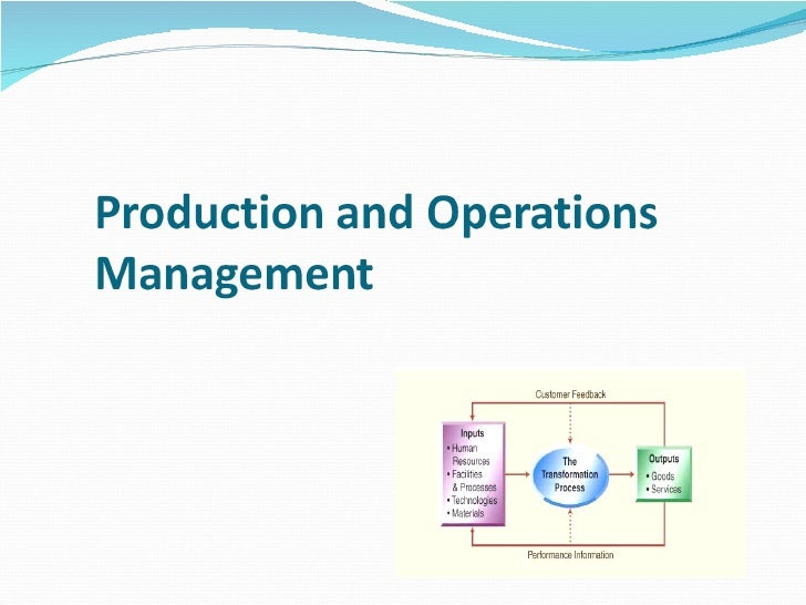Production Amp Operations Management