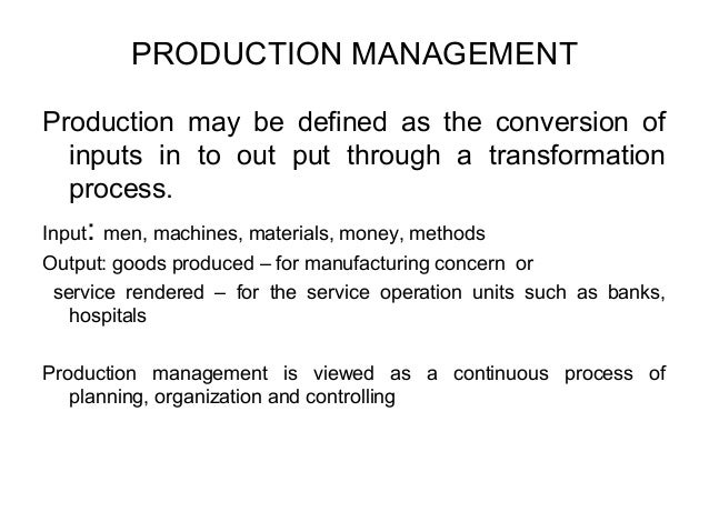 Operations Management and It's Objectives