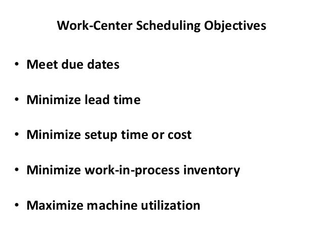 Example of Job Sequencing: Shortest Operating Time Jobs (in order Processing Due Date of arrival) Time (days) (days hence)...