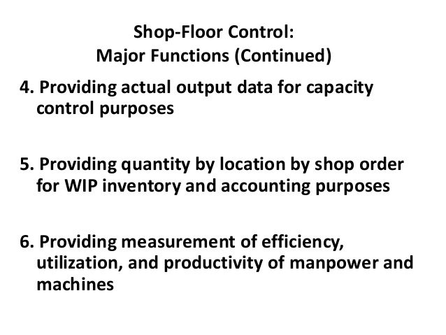 Principles of Job Shop Scheduling (Continued) 5. Speed of flow is most efficiently achieved by focusing on bottleneck work...