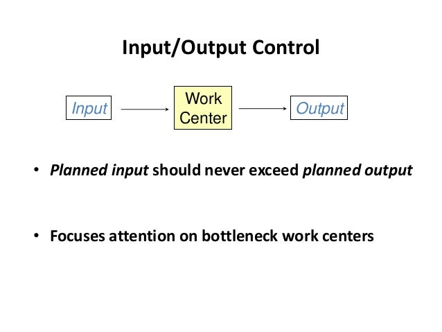 Principles of Job Shop Scheduling (Continued) 9. When seeking improvement in output, look for incompatibility between engi...