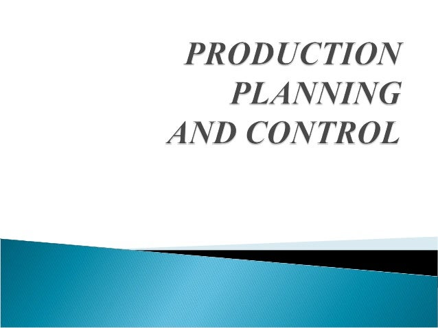 Production Planning may be said to be atechnique of forecasting ahead every step in thelong process of production, taking ...