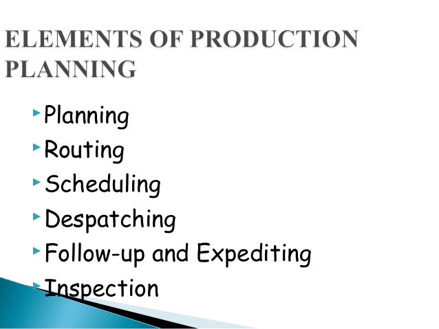 Production Planning And Control Pdf