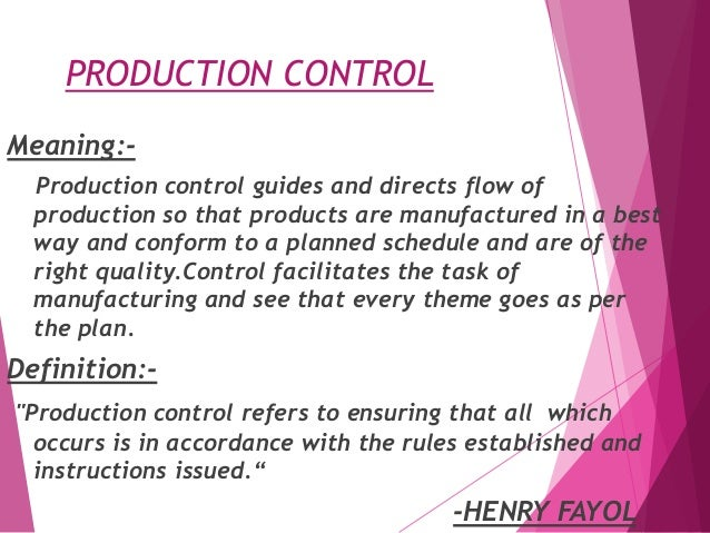 production planning and control essay Production planning & control essay writing service - the most forgotten fact about production planning & control revealed the period cost control implies the use of.