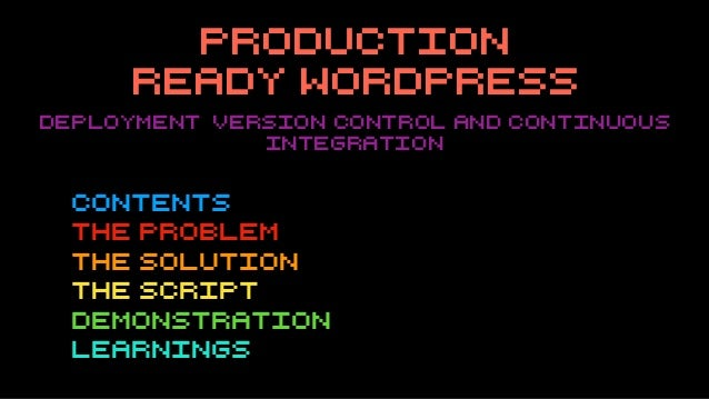 Production ready word press Slide 3