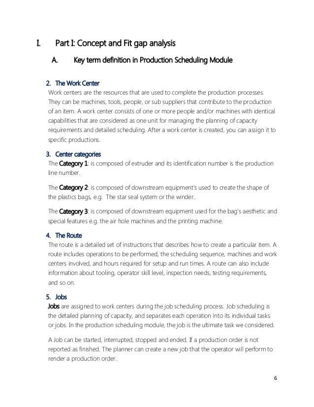 Production Scheduling Using Microsoft Dynamics AX – Production Scheduler Job Description