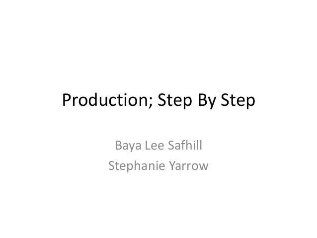 Production; Step By StepBaya Lee SafhillStephanie Yarrow
