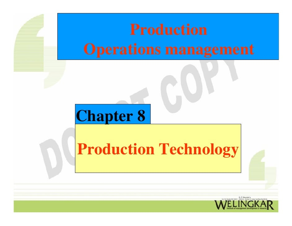 Production Operations managementChapter 8Production Technology