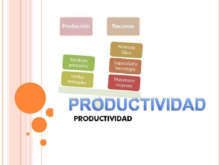 PRODUCTIVIDAD<br />