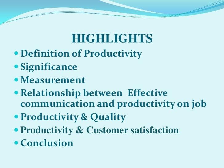 relationship between job satisfaction and productivity