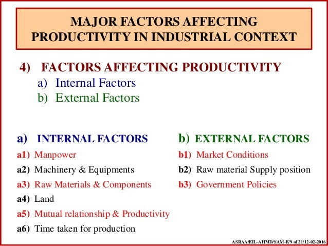 factors affecting productivity in the workplace pdf