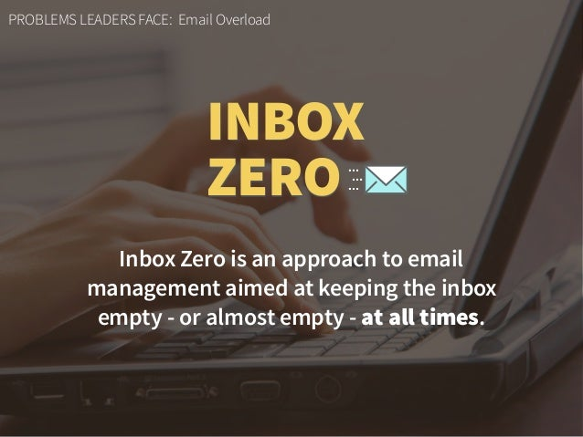 Inbox Zero is an approach to email 