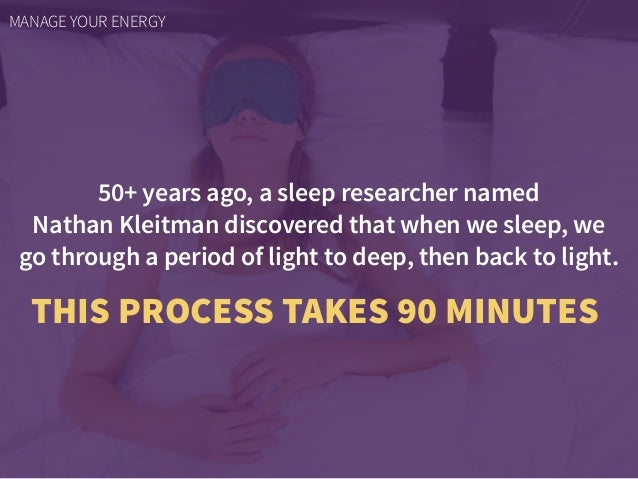 50+ years ago, a sleep researcher named  Nathan Kleitman discovered that when we sleep, we go through a period of light t...