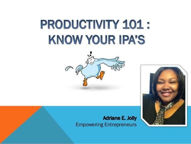 Adriane E. Jolly Empowering Entrepreneurs